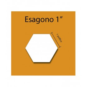 Cardboard hexagon 1''