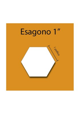 Esagono in cartoncino da 1''