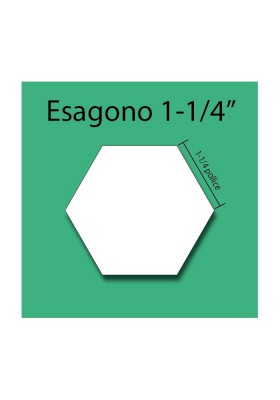 Esagono in cartoncino da 1-1/4""