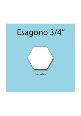 Esagono in cartoncino da 3/4""