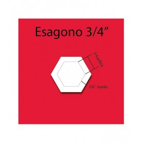 Esagono in plexiglass da 3/4""
