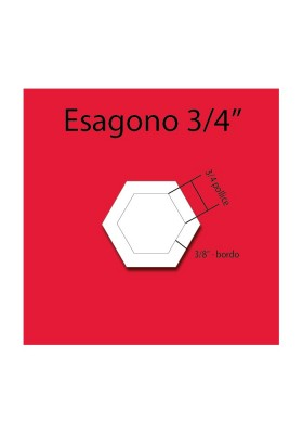 Plexiglass hexagon 3/4''