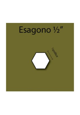 Esagono in cartoncino da ½""