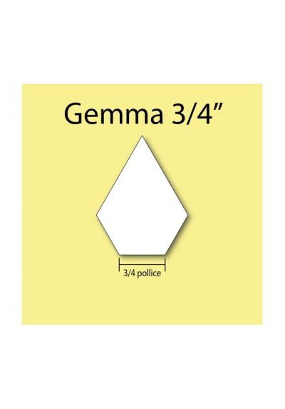"""Gemma in cartoncino da 3/4"""""""