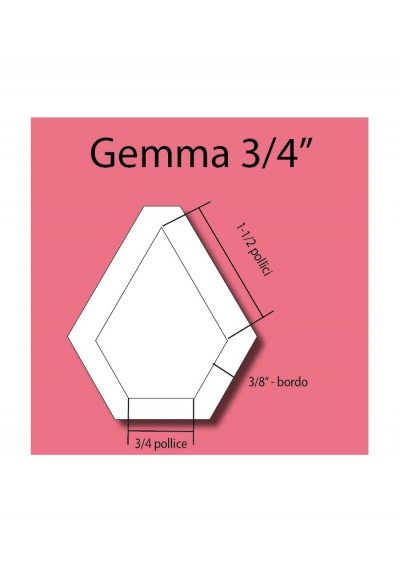 Gemma in plexiglass da 3/4""