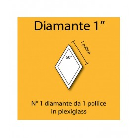 Diamante in plexiglass da 1""