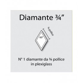 Diamante in plexiglass da 3/4""