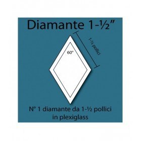 Diamante in plexiglass da 1-1/2""