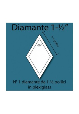 Plexiglass diamond 1-1/2""