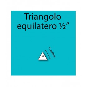Triangolo equilatero in cartoncino da ½""