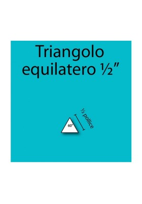 "1/2"" Equilateral Triangles"