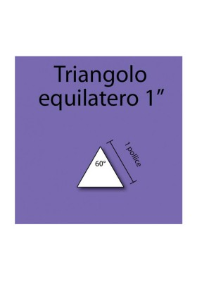 Triangolo equilatero in cartoncino da 1""