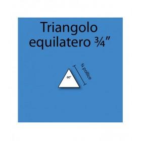 """Triangolo equilatero in cartoncino da 3/4"""""""