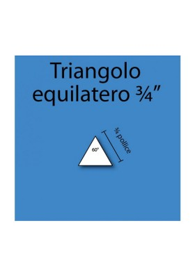 Triangolo equilatero in cartoncino da 3/4""