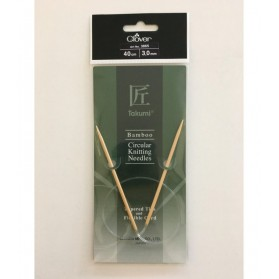 Bamboo Circular Knitting Needles 40 cm/3 cm