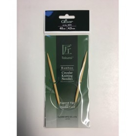 Bamboo Circular Knitting Needles 40 cm/4,5 cm