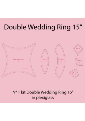 Plexiglass Double Wedding Ring 15''