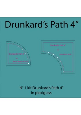 Drunkard's Path da 4'' in plexiglass