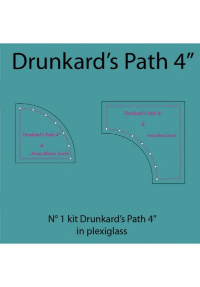 Plexiglass Drunkard's Path 4''